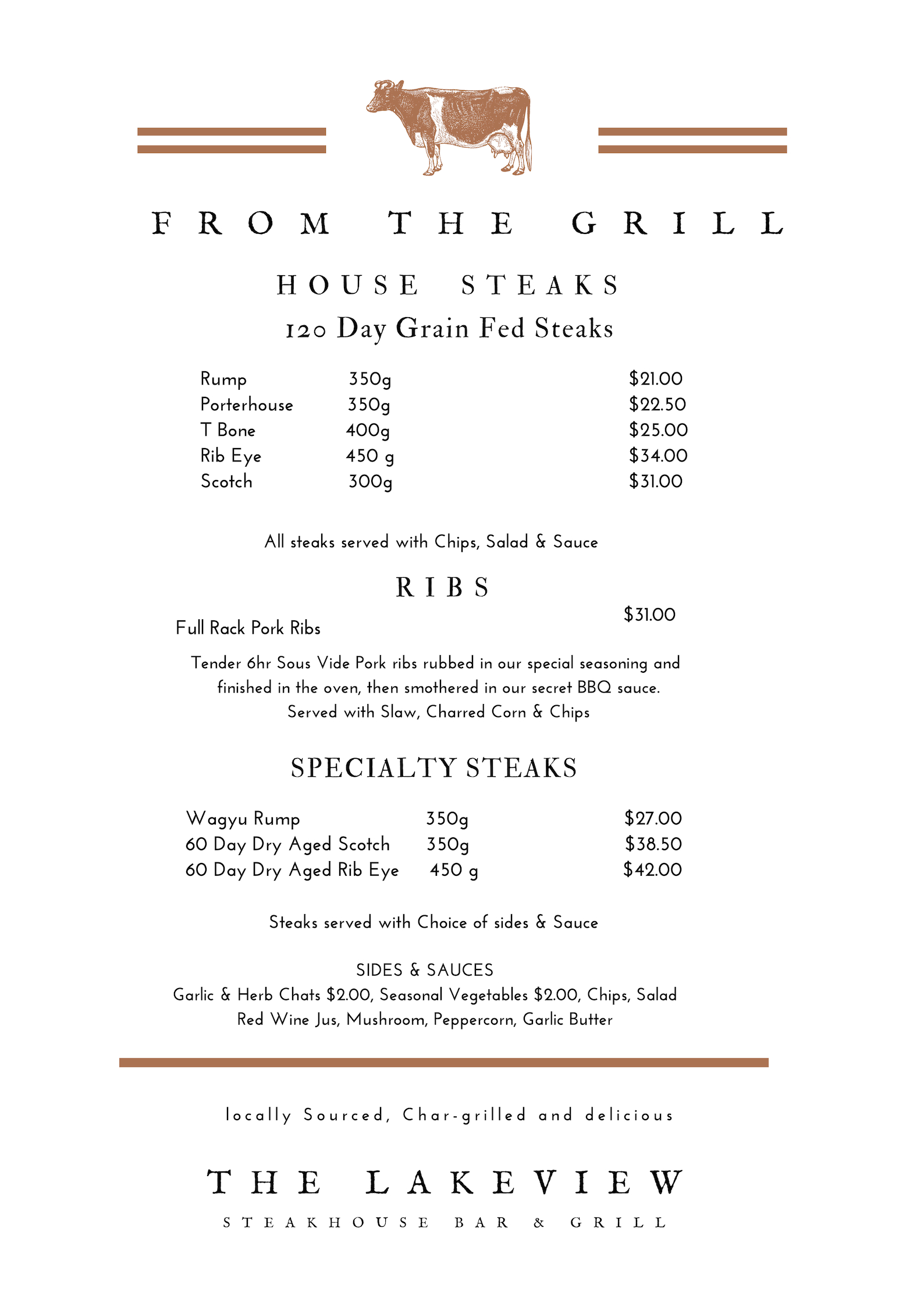 merimbula lakeview hotel menu steaks