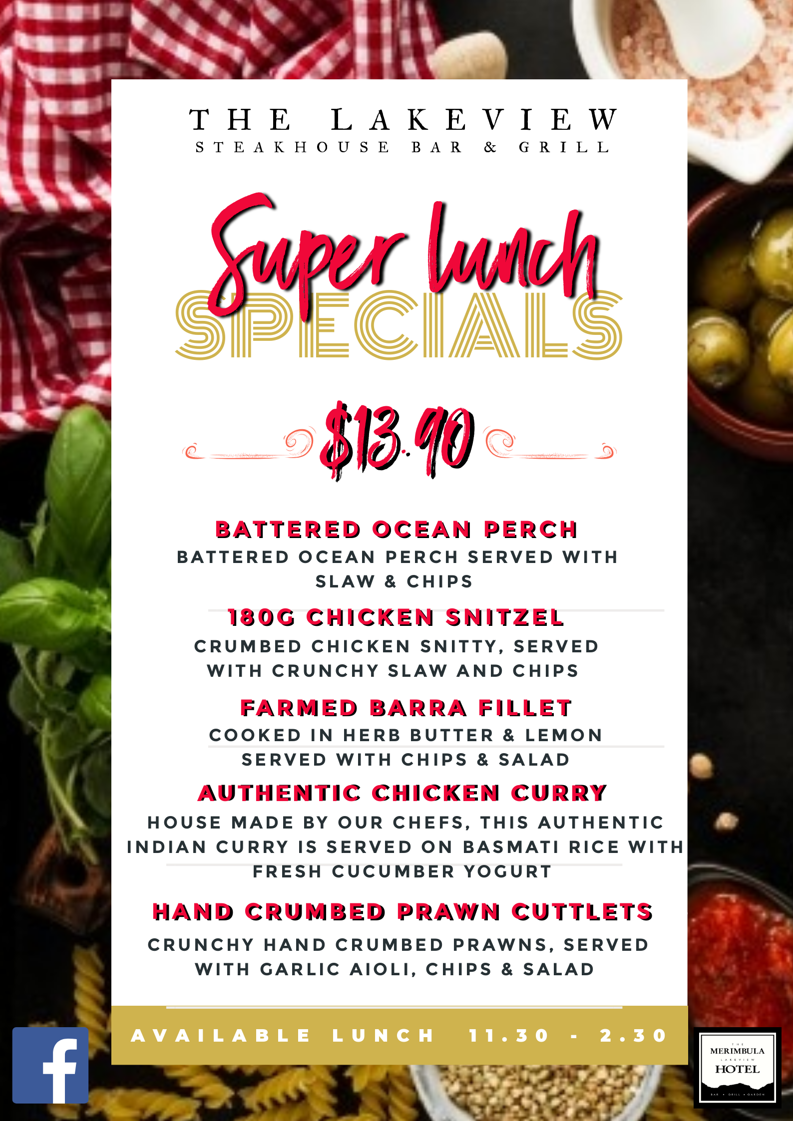 super lunch specials at the lakeview merimbula