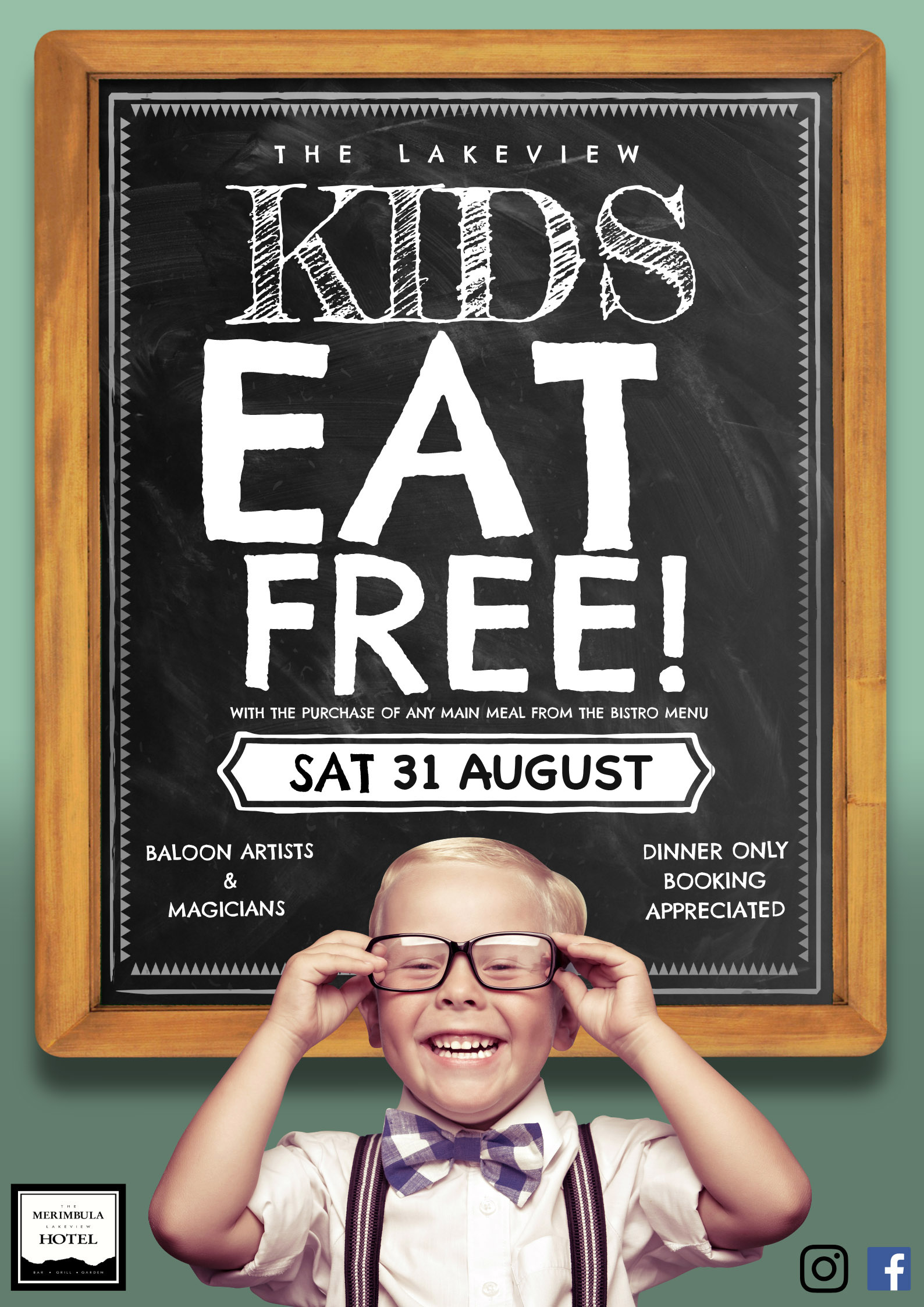 kids eat free saturday 31 august