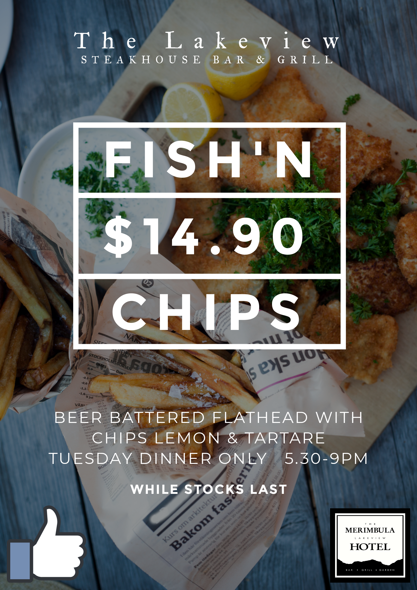Fish n chips tuesday nights
