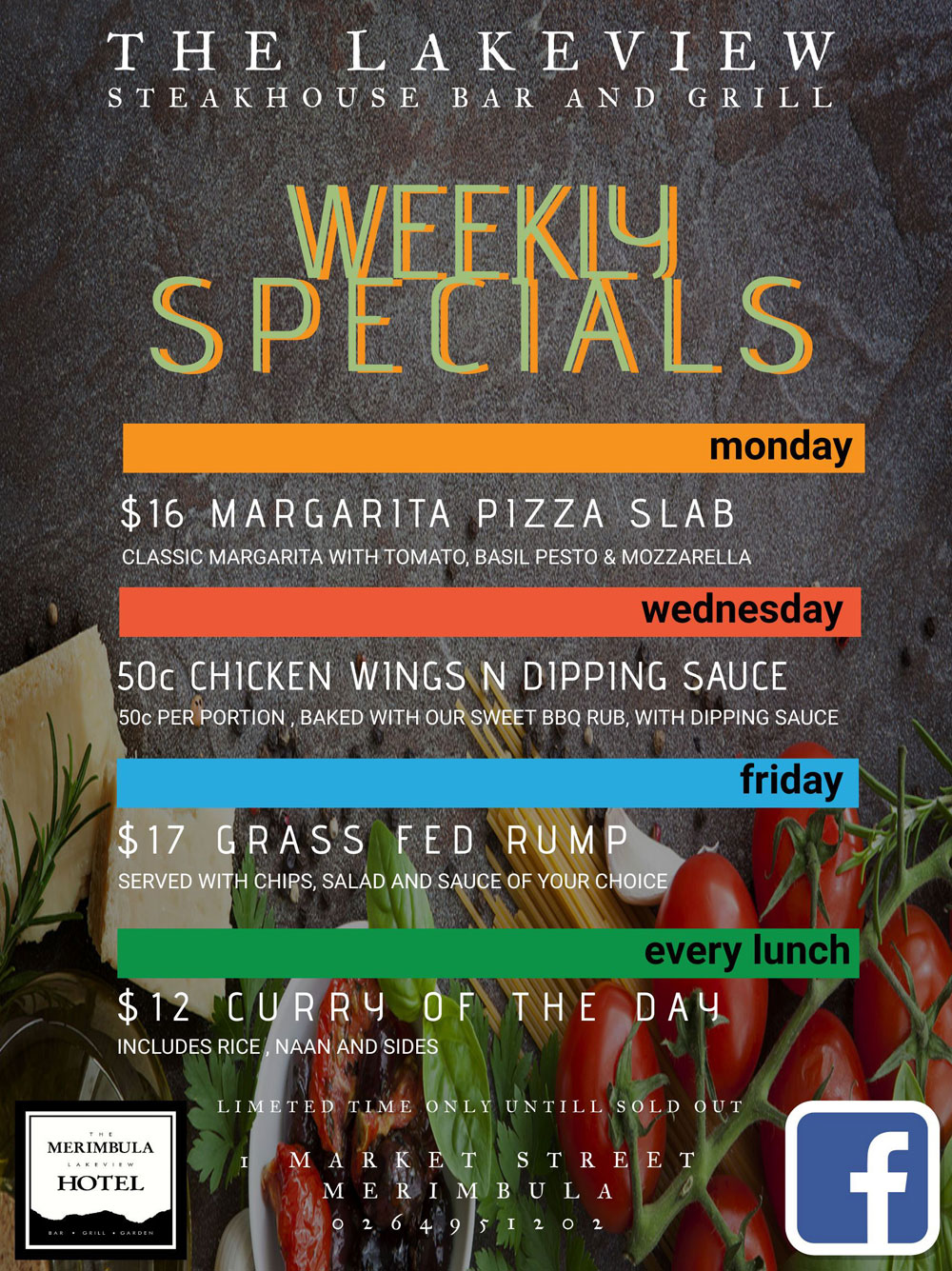 weekly specials at merimbula lakeview hotel