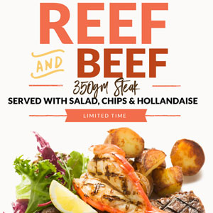 reef and beef steak special